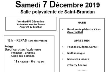 Téléthon le 6 décembre 2019 à St-Brandan
